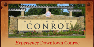Image of Conroe welcome sign